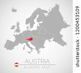 map of european union with the... | Shutterstock .eps vector #1200453109