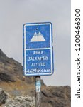 altitud sign at the top of... | Shutterstock . vector #1200466300