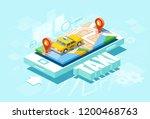 isometric location mobile geo... | Shutterstock .eps vector #1200468763