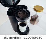 used coffee grounds in coffee... | Shutterstock . vector #1200469360