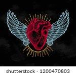 decorative naturalistic heart... | Shutterstock .eps vector #1200470803