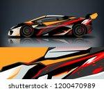racing car wrap design. sport... | Shutterstock .eps vector #1200470989