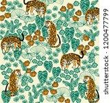 leopard in forest print | Shutterstock .eps vector #1200477799