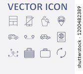 outline 12 vacation icon set.... | Shutterstock .eps vector #1200482389