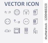 outline 12 back icon set. dress ... | Shutterstock .eps vector #1200483223
