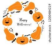 halloween wreath vector... | Shutterstock .eps vector #1200484219