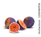 fresh  nutritious  tasty figs.... | Shutterstock .eps vector #1200484936
