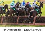 Horse Racing Hurdle Jump View...