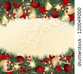 christmas card with christmas... | Shutterstock .eps vector #120049000