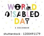december 3   world disability... | Shutterstock .eps vector #1200491179
