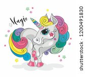 magic unicorn. fairy pony.... | Shutterstock .eps vector #1200491830