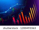 stock market or forex trading...   Shutterstock . vector #1200493363