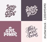 set of four hand lettered...   Shutterstock .eps vector #1200495490