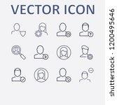 outline 12 user icon set.... | Shutterstock .eps vector #1200495646