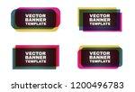 rectangular banner. abstract... | Shutterstock .eps vector #1200496783