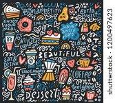 doodle style vector concept... | Shutterstock .eps vector #1200497623