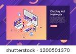 mockup landing page website... | Shutterstock .eps vector #1200501370