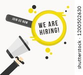 we are hiring banner poster... | Shutterstock .eps vector #1200502630