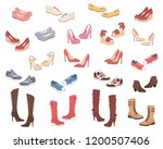 women shoes collection. various ... | Shutterstock .eps vector #1200507406