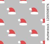 santa claus hat seamless...   Shutterstock .eps vector #1200508576