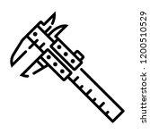 caliper icon vector | Shutterstock .eps vector #1200510529