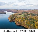 aerial of loch raven reservoir... | Shutterstock . vector #1200511390