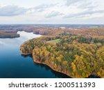 aerial of loch raven reservoir... | Shutterstock . vector #1200511393