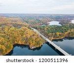 aerial of loch raven reservoir... | Shutterstock . vector #1200511396