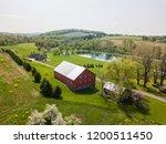 aerial of farmland and farm... | Shutterstock . vector #1200511450