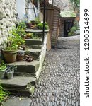 the beautiful cobbled streets... | Shutterstock . vector #1200514699