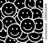 seamless pattern with smile...   Shutterstock .eps vector #1200522349