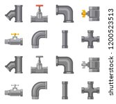 vector illustration of pipe and ... | Shutterstock .eps vector #1200523513