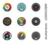 dashboard icon set. flat set of ... | Shutterstock .eps vector #1200525889