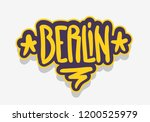 berlin germany  urban label...   Shutterstock .eps vector #1200525979