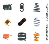coil spring icon set. flat set...   Shutterstock .eps vector #1200526243