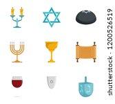 candle jewish kippah shabbat...   Shutterstock .eps vector #1200526519
