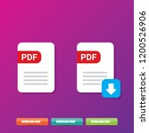vector flat pdf file icon and... | Shutterstock .eps vector #1200526906