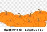 autumn vector orange pumpkins... | Shutterstock .eps vector #1200531616