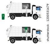 realistic garbage truck... | Shutterstock .eps vector #1200531679