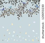 autumn tree and birds | Shutterstock . vector #120053230
