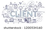 design concept of client.... | Shutterstock .eps vector #1200534160