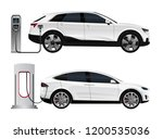 set of electric suv with... | Shutterstock .eps vector #1200535036