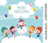 vector illustration of christmas | Shutterstock .eps vector #1200535369