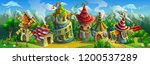 a big panorama of  fairytale... | Shutterstock .eps vector #1200537289