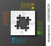four sided 3d square puzzle... | Shutterstock .eps vector #1200538129