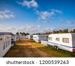 camper trailers and cabins at... | Shutterstock . vector #1200539263