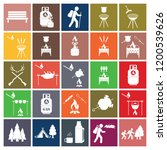 set of camping equipment icons. ... | Shutterstock .eps vector #1200539626