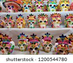 sugar skulls decorated in a... | Shutterstock . vector #1200544780