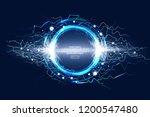 luminous electric circle... | Shutterstock .eps vector #1200547480