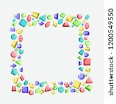 a frame from multi colored...   Shutterstock .eps vector #1200549550